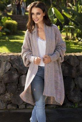 Kolorowy sweter oversize LS206 WZÓR 1