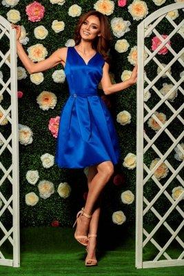 Rozkloszowana sukienka L257 chaber
