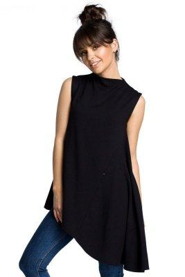 B069 Asymetryczna bluzka czarna