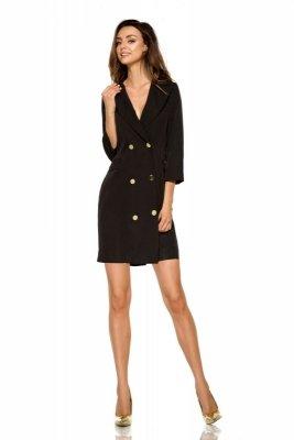 Garniturowa sukienka mini L278 czarny
