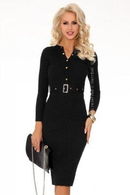 Anselmi Black FX1746 sukienka swetrowa