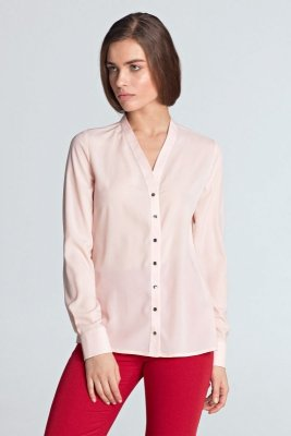 Bluzka ze złotymi napami - róż - B102