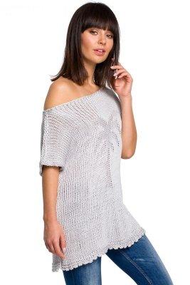 BK020 Bluzka sweterkowa z palmą - szara