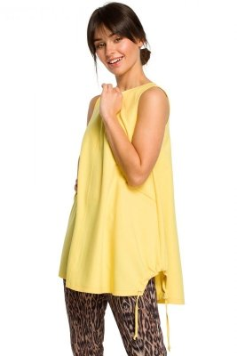B116 Tunika bezrękawnik - żółta