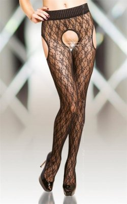 Crotchless Tights 5505 - black