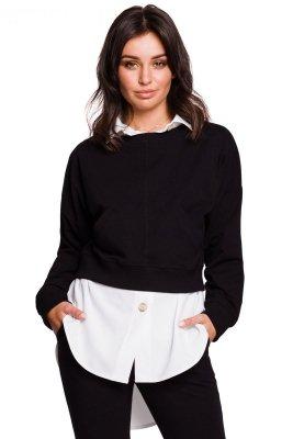 B125 Krótka bluza - czarna