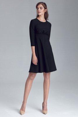 Sukienka odcięta pod linią biustu - czarny - S124