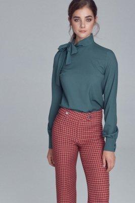 Bluzka z wiązaniem na boku - zielony - B103