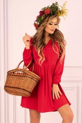 Mayonati Red D37 sukienka