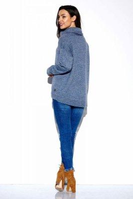 Gładki oversizowy golf LS274 jeans