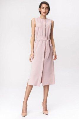 Różowa sukienka szmizjerka  - S133