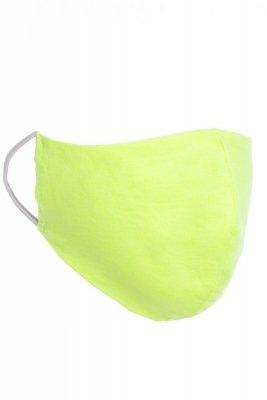 Maseczka odzieżowa 3 limonkowa