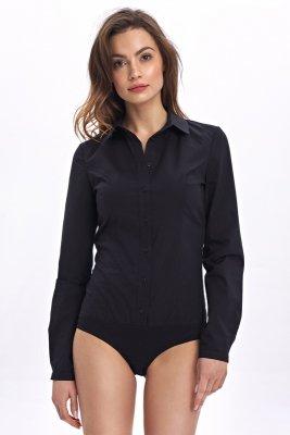 Klasyczna koszula body - czarny - CK07