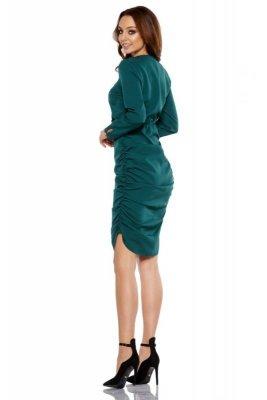 1 Sukienka  L285 ciemna zieleń PROMO