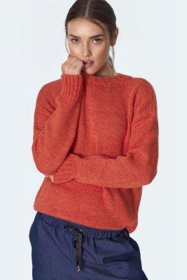 Klasyczny pomarańczowy sweter - SW08