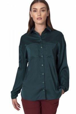 Zielona koszula satynowa - K56