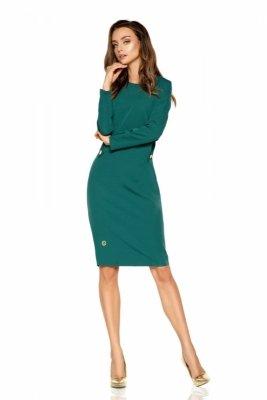 1 Sukienka  L274 ciemna zieleń PROMO