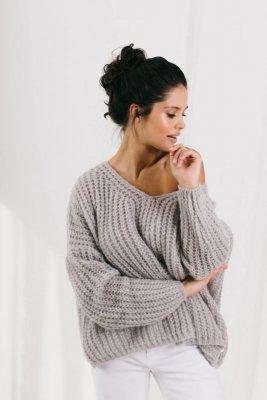 Sweter LS335 grey