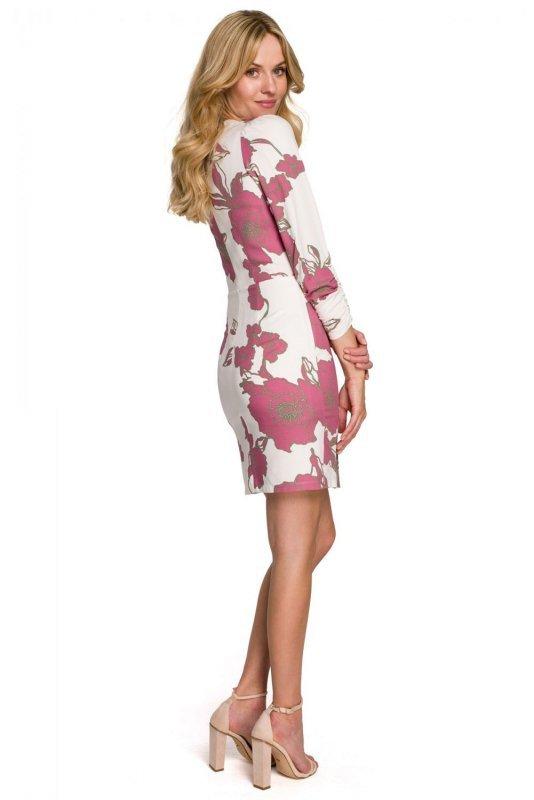 K096 Sukienka z kopertową górą - model 2