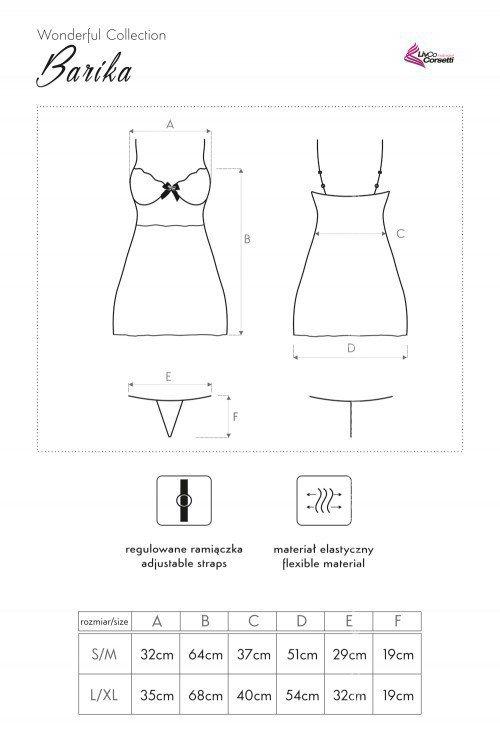 Barika LC 90218 Wonderful Collection koszulka i majtki