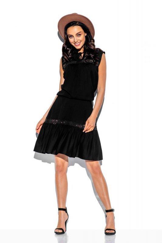 1 Sukienka  L333 czarny PROMO