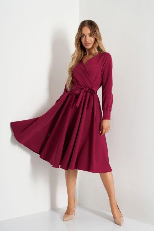Sukienka L392A bordo