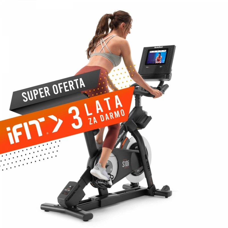 Rower spiningowy NordicTrack Commercial S10i +  3 lata członkostwa  iFit
