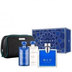 Bvlgari BLV Pour Homme Zestaw - EDT 100 ml + ASB 75 ml + SG 75 ml + kosmetyczka