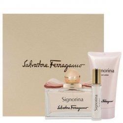 Salvatore Ferragamo Signorina Zestaw - EDP 100 ml + EDP 10 ml + BL 50 ml