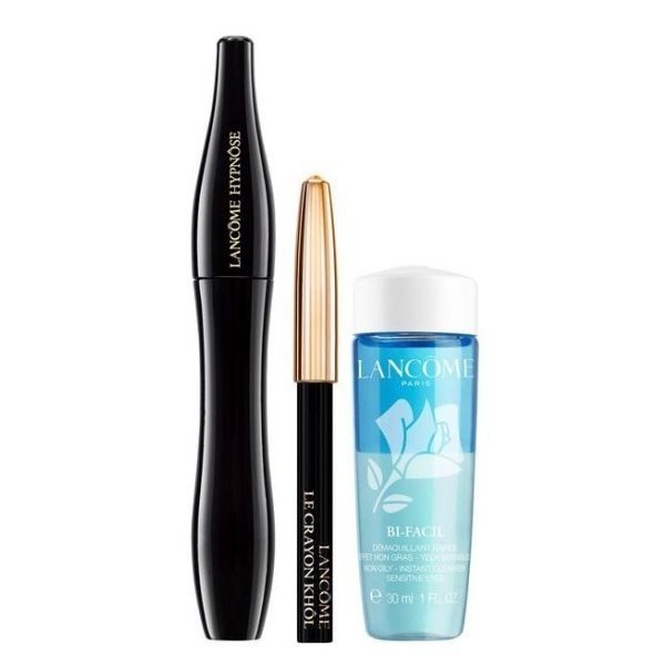 Lancome Hypnose Set - Mascara 01 Noir Hypnotic 6.2 ml + Le Crayon Kohl 01 Noir 0.7 g  + Make-up remover Bi-Facil 30 ml