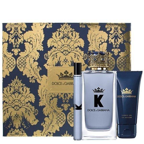 Dolce & Gabbana K Set - Eau de Toilette 100 ml + Eau de Toilette 10 ml + Shower Gel 50 ml