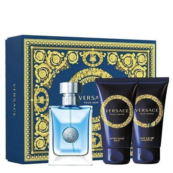 Versace pour Homme Zestaw - Woda toaletowa 50 ml + Żel pod prysznic 50 ml + Balsam po goleniu 50 ml