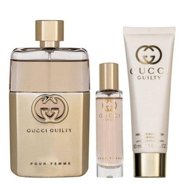 Gucci Guilty pour Femme Set - Eau de Parfum 90 ml + Eau de Parfum 15 ml + Body lotion 50 ml