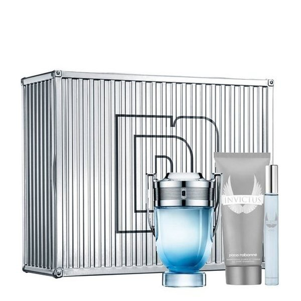 Paco Rabanne Invictus Aqua Set - Eau de Toilette 100 ml + Eau de Toilette 10 ml + Shower Gel 100 ml