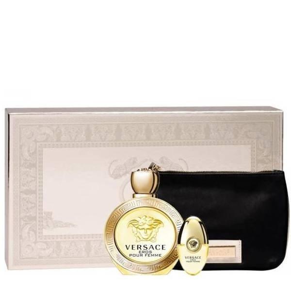 Versace Eros pour Femme Set - Eau de Parfum 100 ml + mini Eau de Parfum 10 ml + pouch