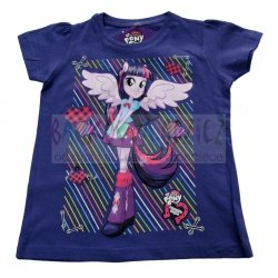 T-shirt My Little Pony Equestria GirlsTwilight Sparkle kolor fioletowy