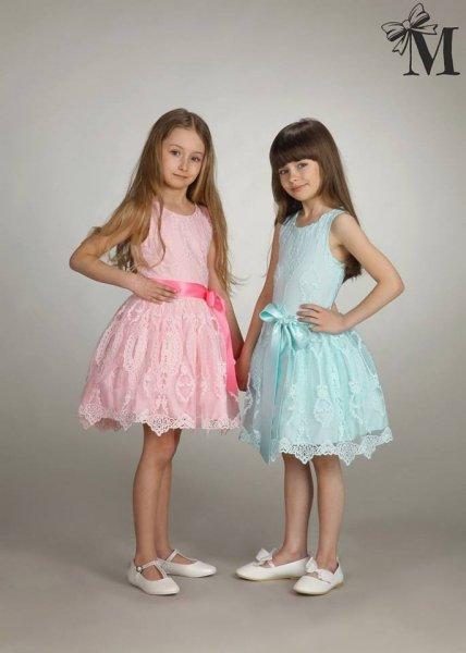 Agnes Piękna Koronkowa Różowa Sukienka Sukieneczka Wesele Urodziny
