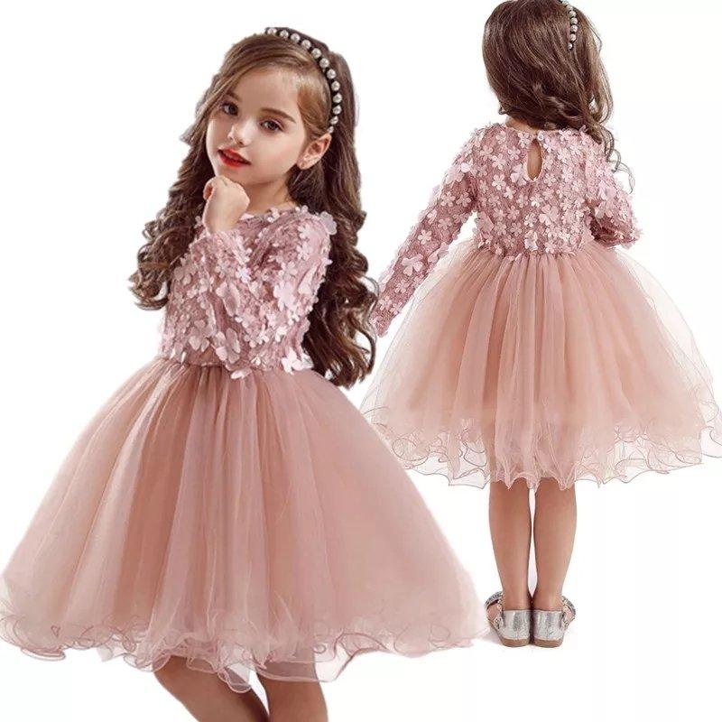 Sukienka z rękawkiem roczek Maja