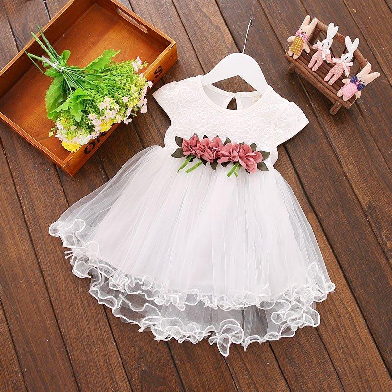 Wizytowa asymetryczna sukienka chrzest