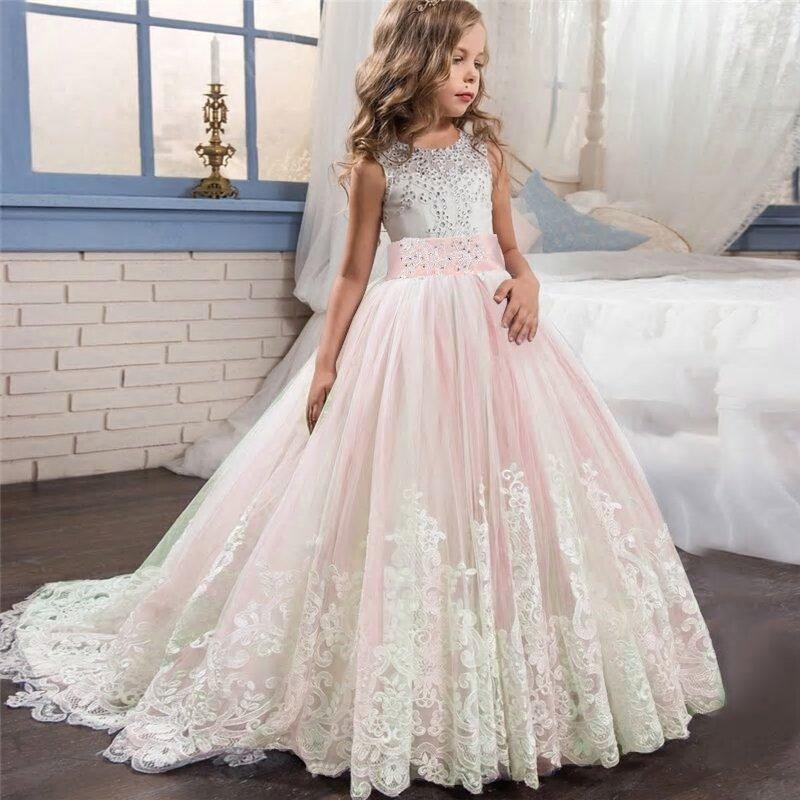 Sukienka z tiulem trenem asymetryczna Estelle