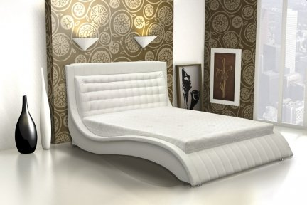 wave 140 160 180 cm upholstered bed frames - Quilted Bed Frames