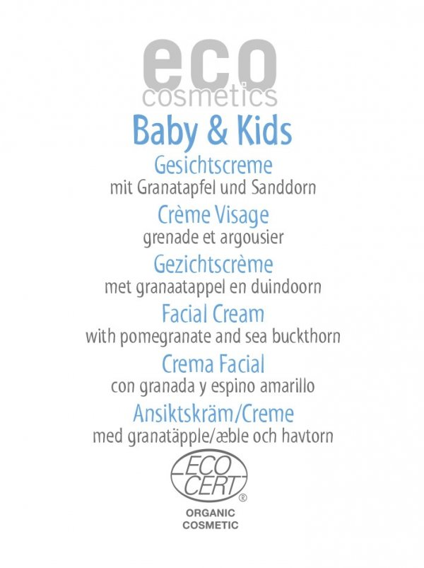 Eco Cosmetics Krem do twarzy dla dzieci i niemowląt, 2 ml - próbka