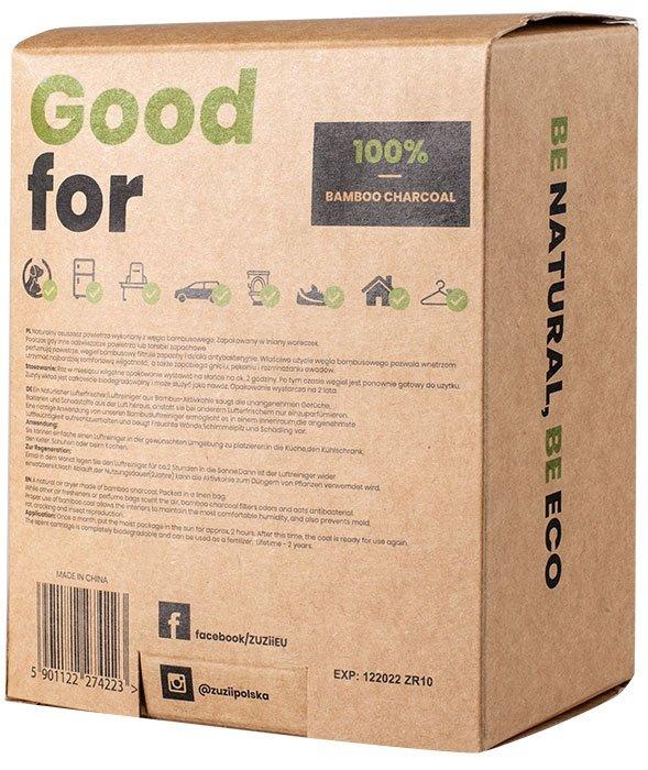 ZUZII Węgiel bambusowy - pochłaniacz wilgoci / zapachów 2 x 200 g