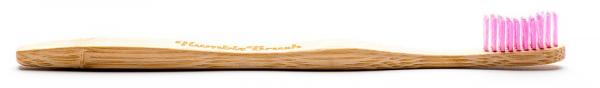 Humble Brush Szczoteczka do zębów dla dzieci, bambusowa ULTRA SOFT różowa