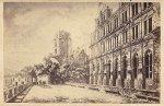 [HEILDELBERG - widok na zamek - fotografia widokowa]. [l. 80. XIX w.]. Fotografia form. 5,8x9 cm na oryg. podkładzie form. 6,2x10,1 cm autorstwa Franza Richarda w Heldelbergu.