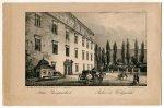 KRAKÓW. Pałac Wielopolskich. Palais ce Wielopolski. Litografia