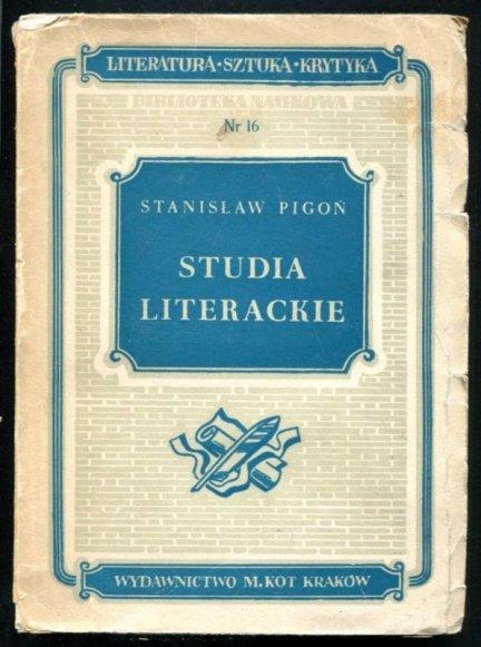 Pigoń Studia - Studia literackie