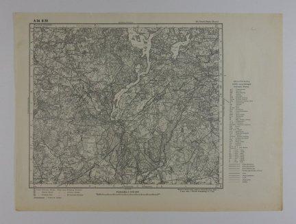 Dtsch.Eylau. (Iława) - mapa 1:100 000