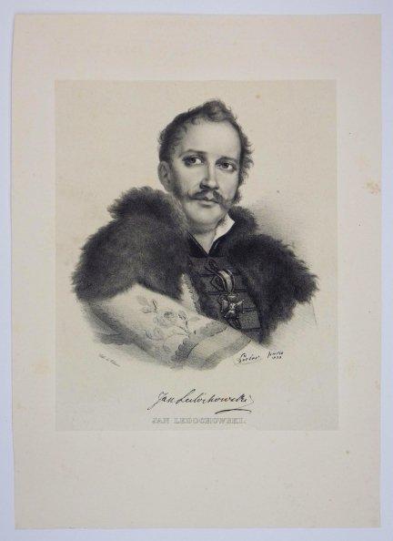 [POWSTANIE LISTOPADOWE] Jan Ledóchowski - portret - litografia [1832]