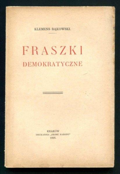 Bąkowski Klemens - Fraszki demokratyczne
